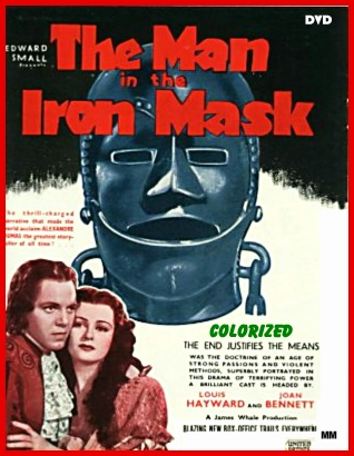 Image result for THE MAN IN THE IRON MASK 1939 POSTER