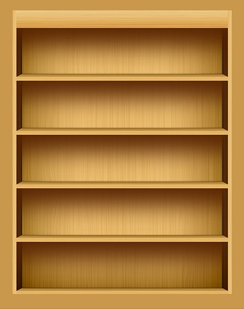 IPad Inspired Bookshelf PSD L