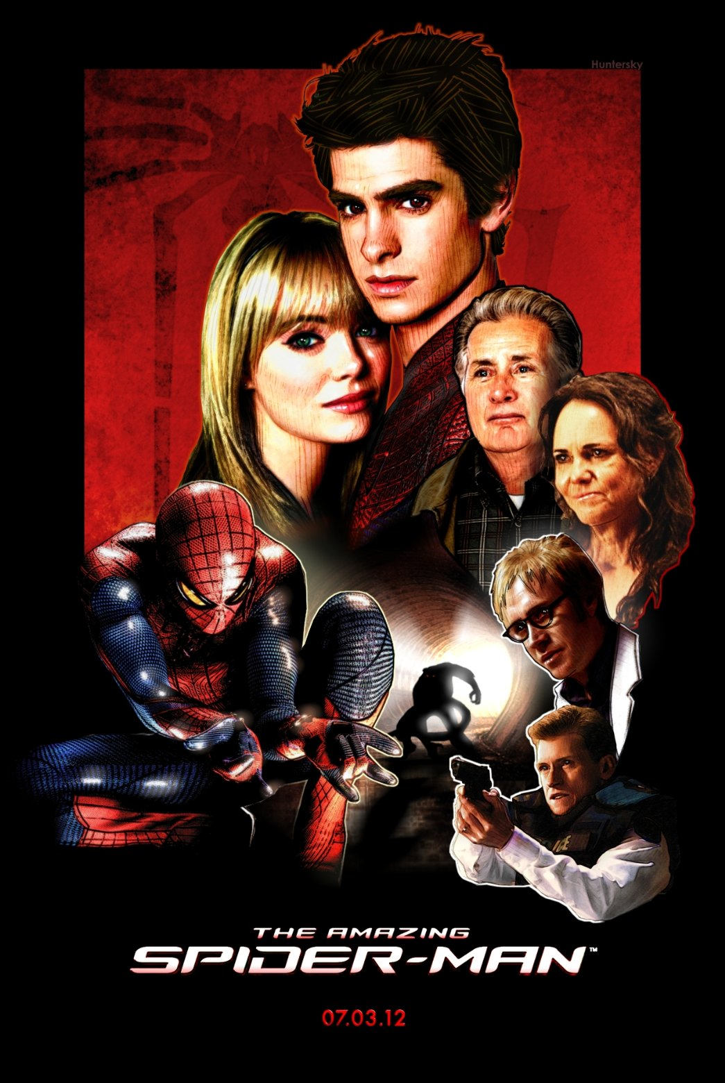 The Amazing Spider Man Huntersky Movie Poster Kirby Dynamics