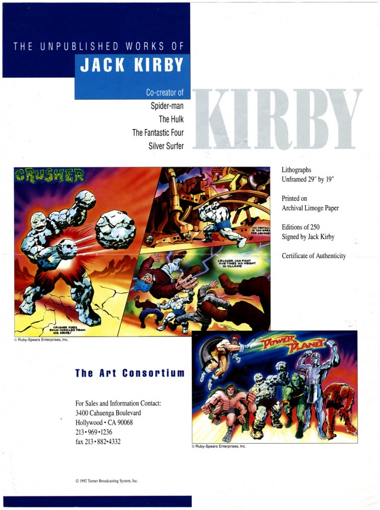 1992 - The Unpublished Works Of Jack Kirby one-sheet