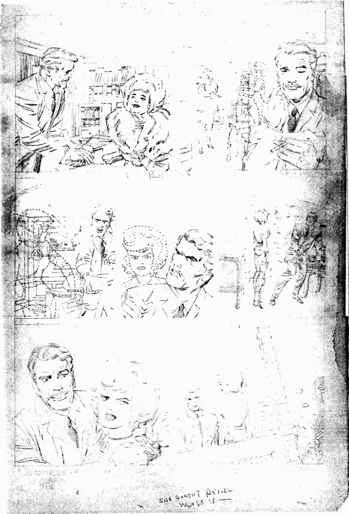 1964 - Fantastic Four 31 unused pencil art