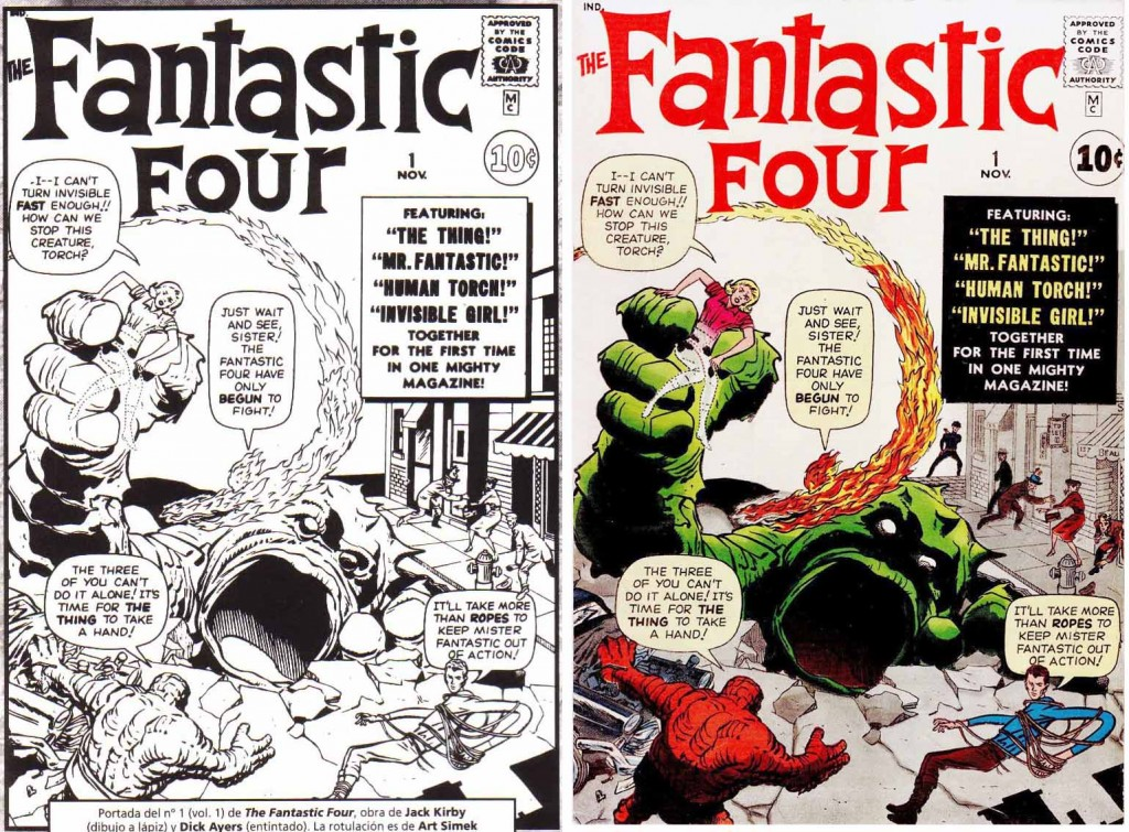 1961 - Fantastic Four 1 cover comparison