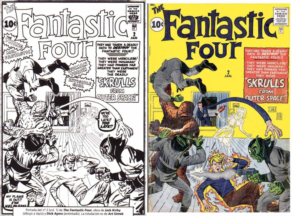 1962 - Fantastic Four 2 cover comparison