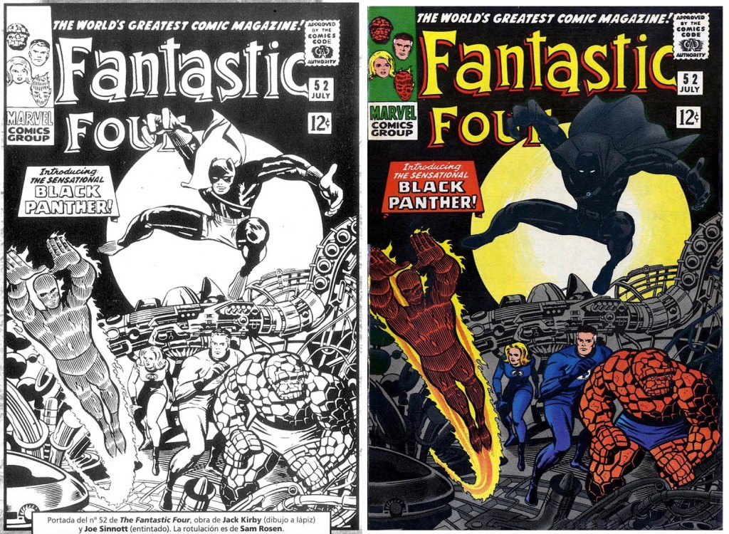 1966 - Fantastic Four 52 cover comparison