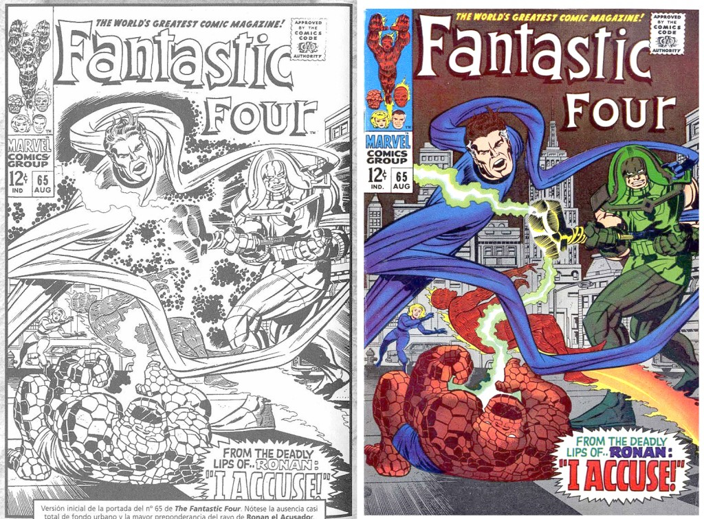 1967 - Fantastic Four 65 cover comparison