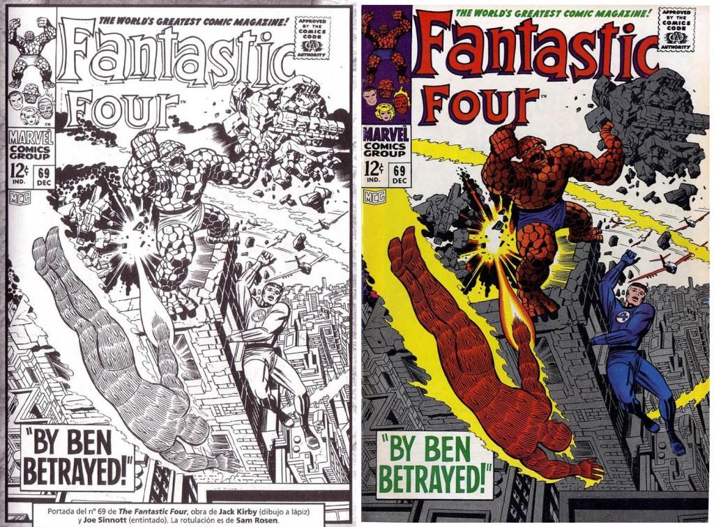 1967 - Fantastic Four 69 cover comparison