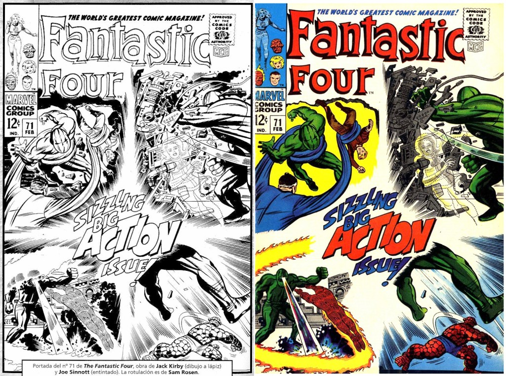 1968 - Fantastic Four 71 cover comparison