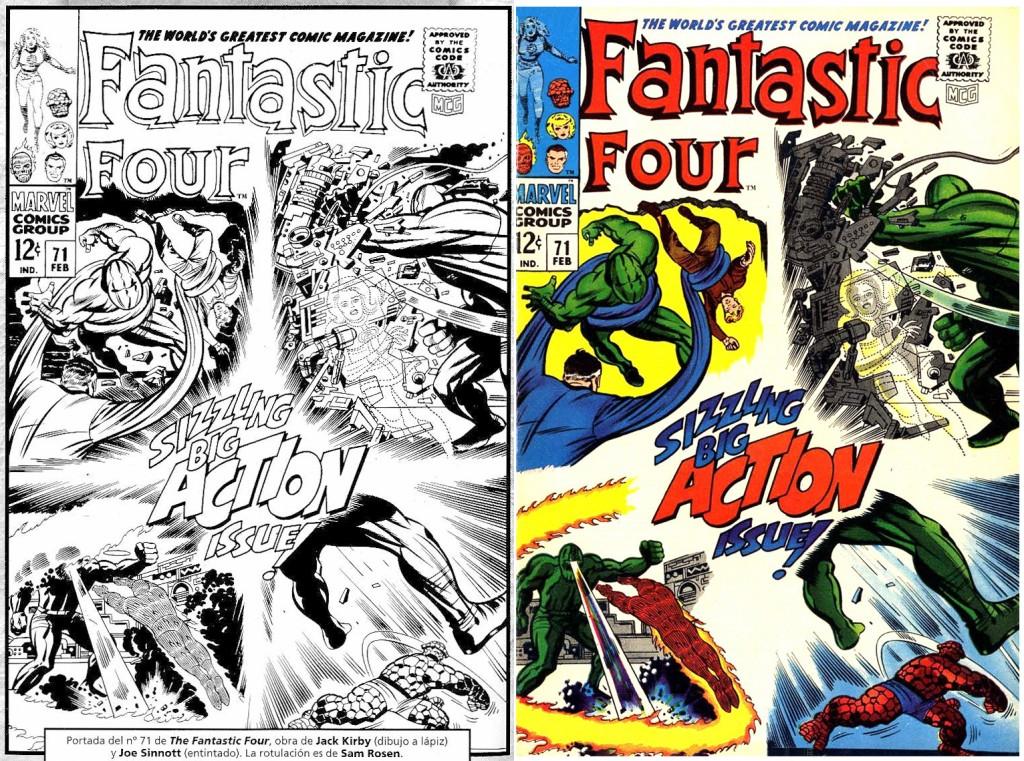 1968 - Fantastic Four 71 cover comparison