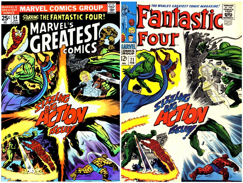 1968 - Another Fantastic Four 71 cover comparison