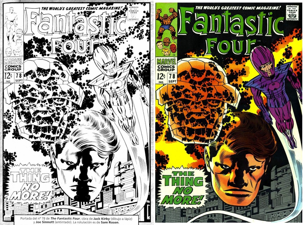 1968 - Fantastic Four 78 cover comparison