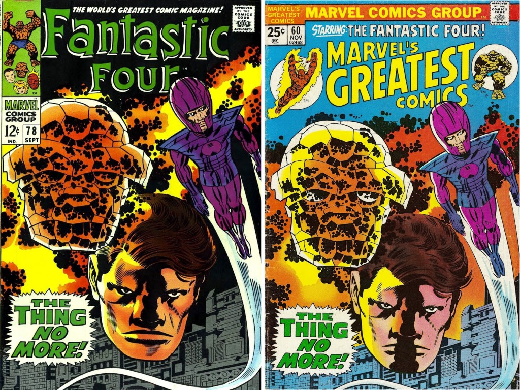 1968 - Another Fantastic Four 78 cover comparison