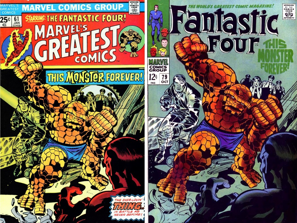1968 - Another Fantastic Four 79 cover comparison