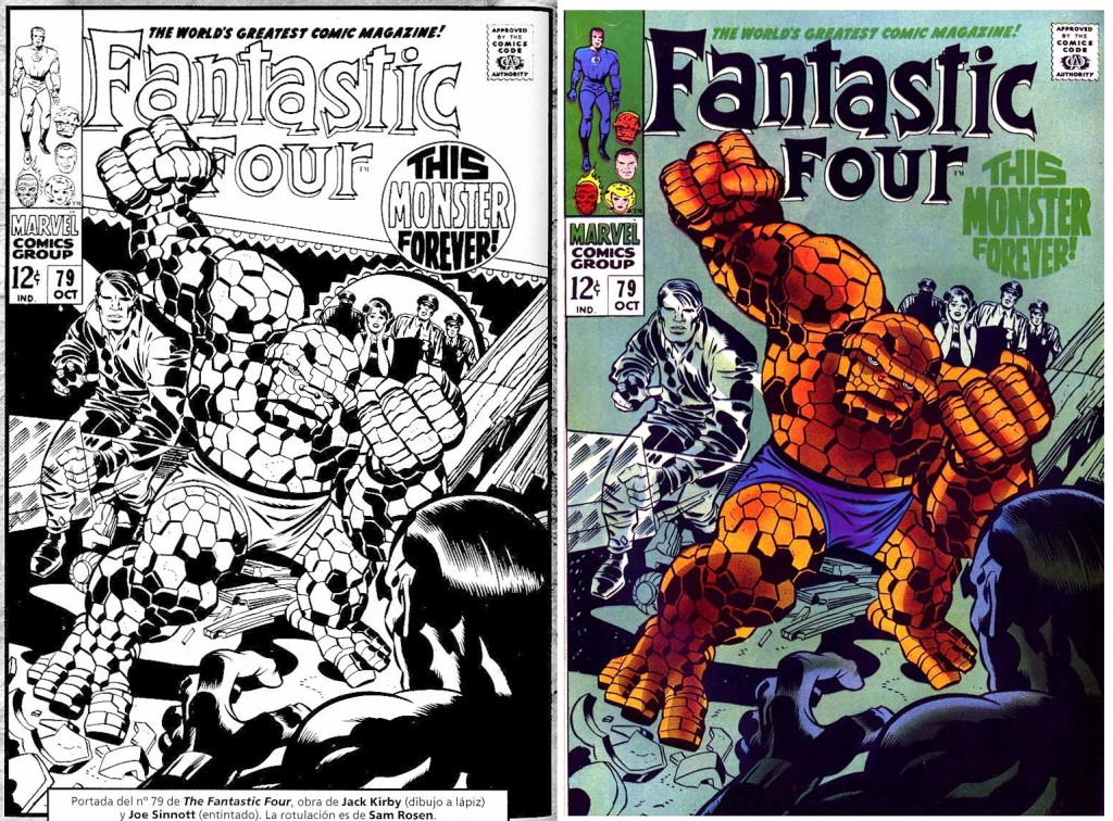 1968 - Fantastic Four 79 cover comparison