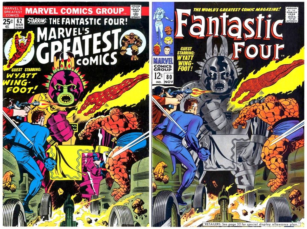 1968 - Another Fantastic Four 80 cover comparison