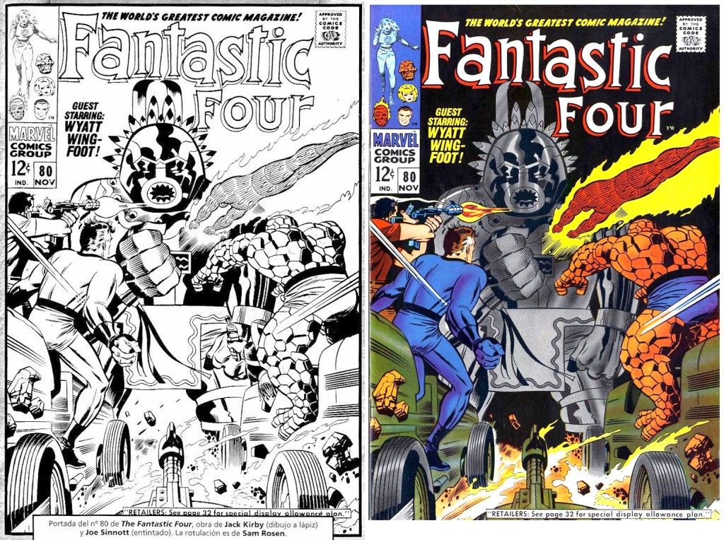 1968 - Fantastic Four 80 cover comparison
