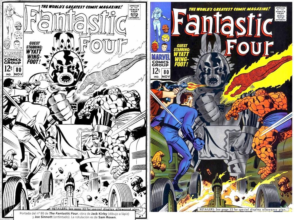 1968 - Fantastic Four 80 cover comparison