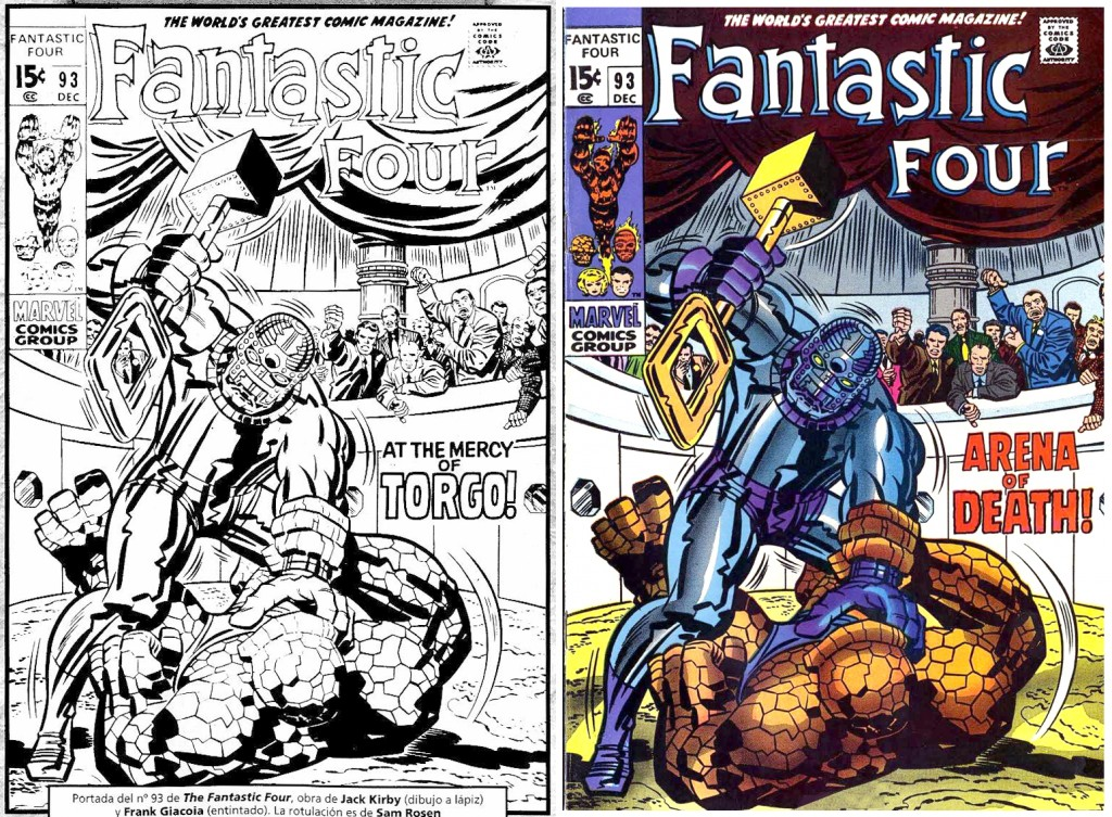 1969 - Fantastic Four 93 cover comparison
