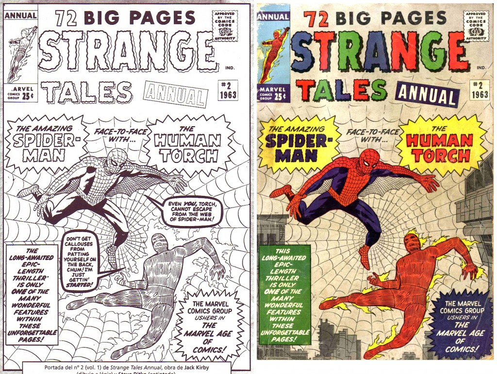 1963 - Strange Tales Annual 2 cover comparison