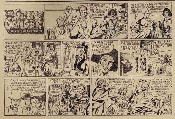 24 February 1957 Davy Crockett, Frontiersman Sunday strip in German