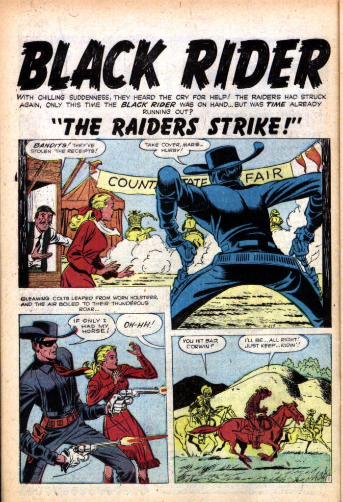 76555719 Title splash pages for the three Black Rider stories published later in the  U.S..