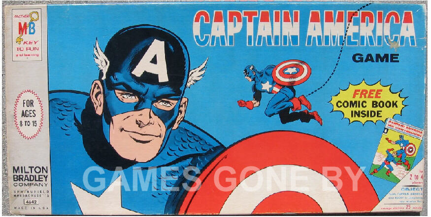 dcb3bbea3816 Rare Cap board game-first from Marvel – Milton Bradley 1966 – Comic was  Tales of Suspense  77