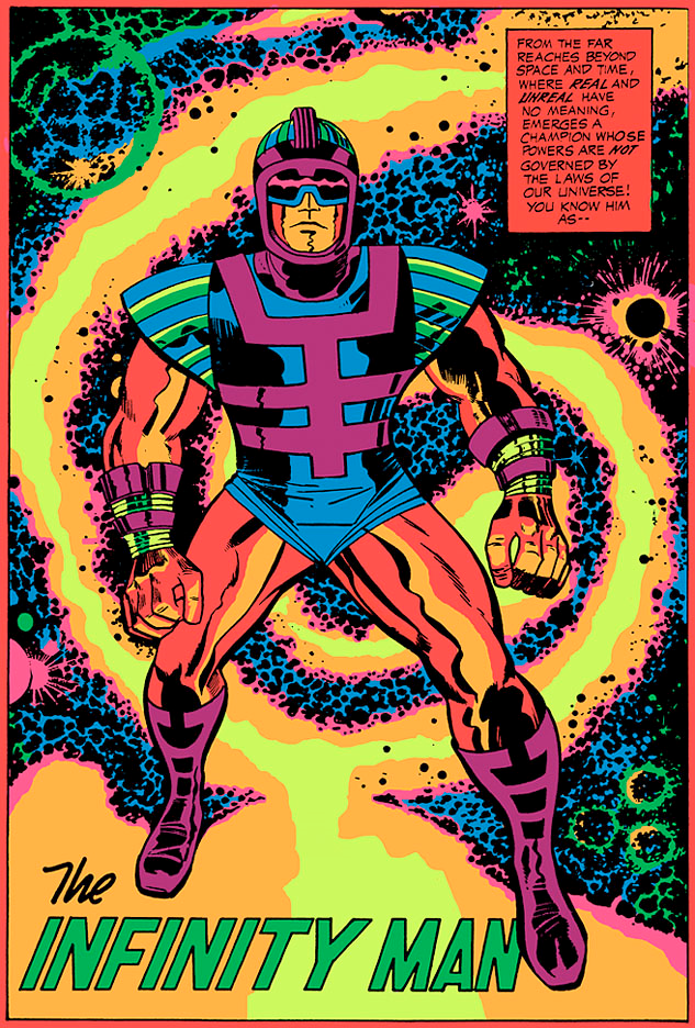 Infinity man day glo
