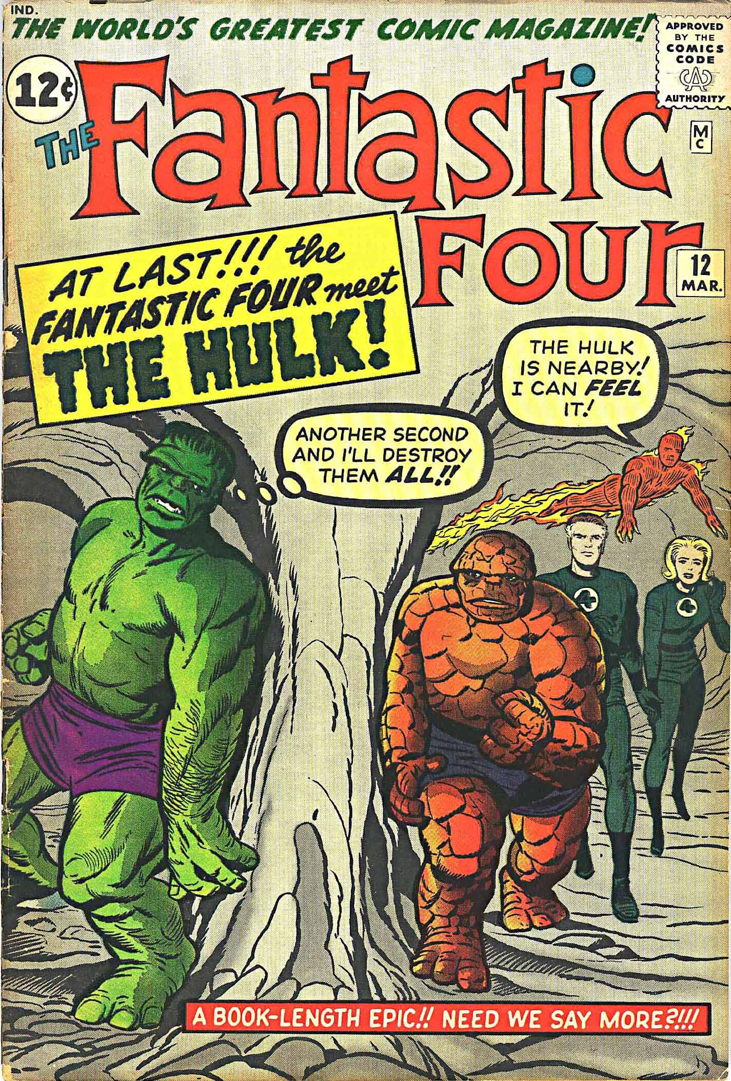 Fantastic Four #12 cover