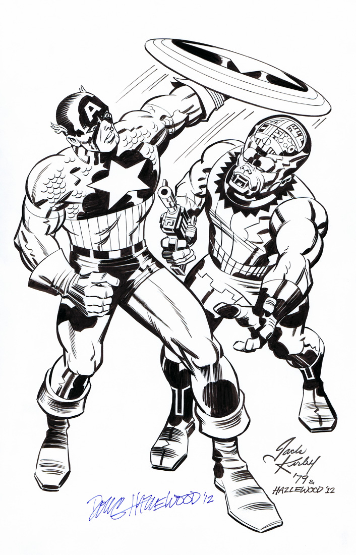 Captain America Pin Up Kirby Vision