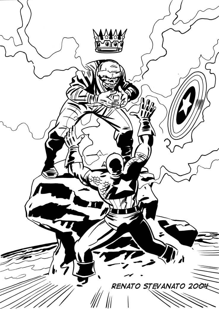 Captain America Red Skull Coloring