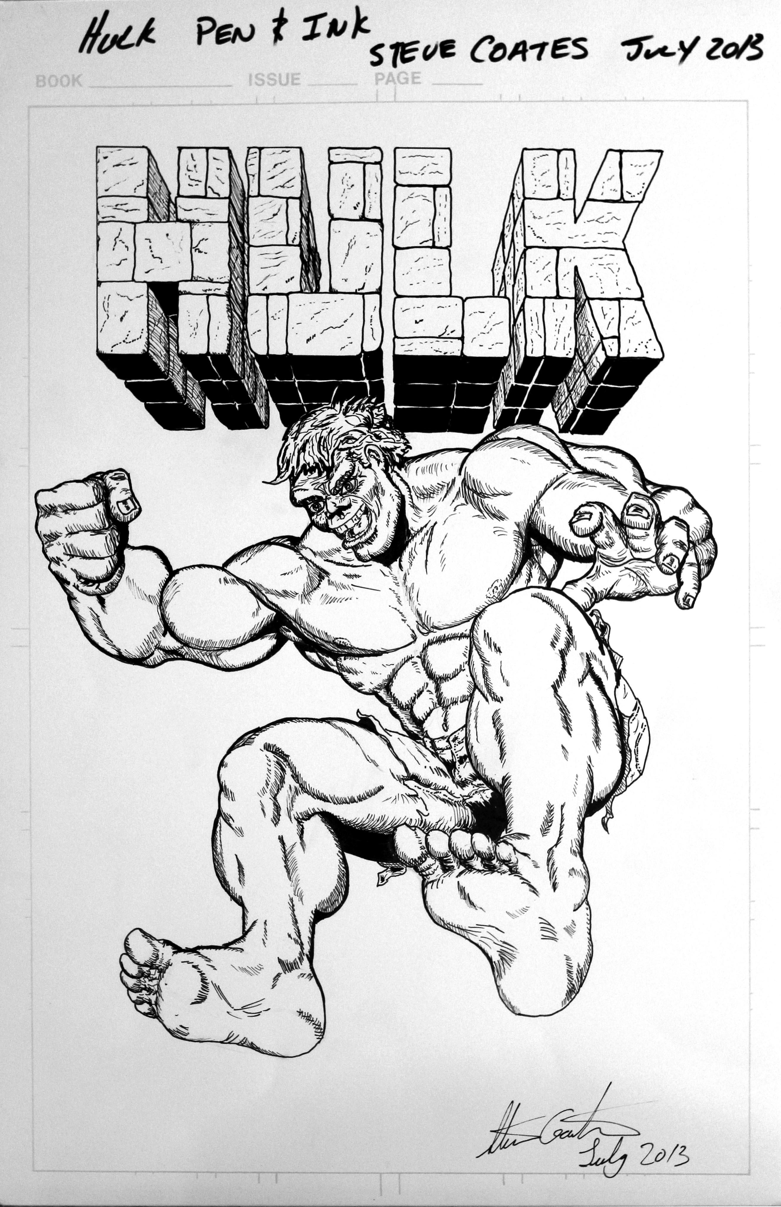 Hulk B&W