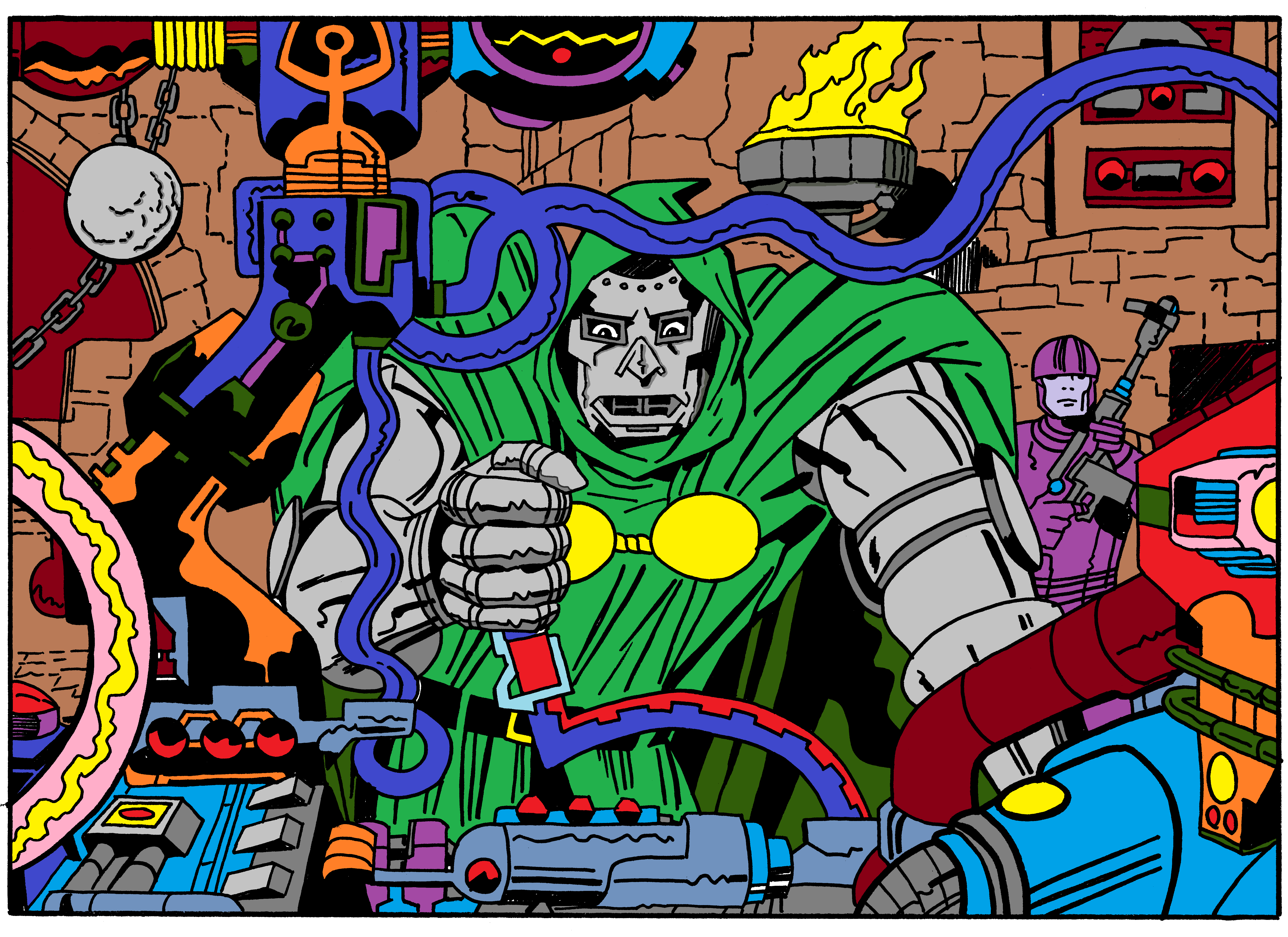 Doctor doom in Color