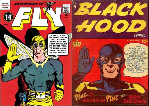 Adventures of the Fly #3 &  Black Hood #9