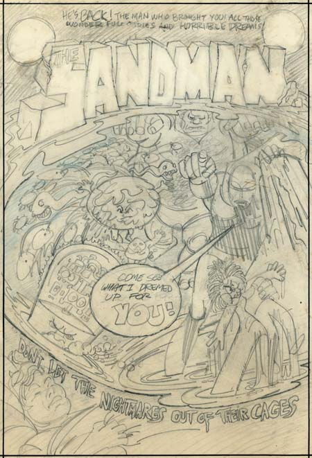Sandman #1 cover rough