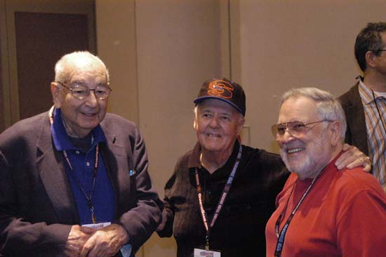 Joe Simon, Joe Sinnott and John Romita Sr.