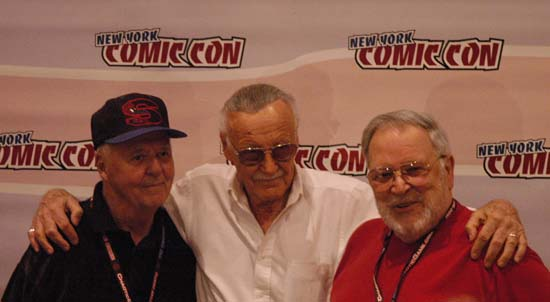 Joe Sinnott, Stan Lee and John Romita Sr.