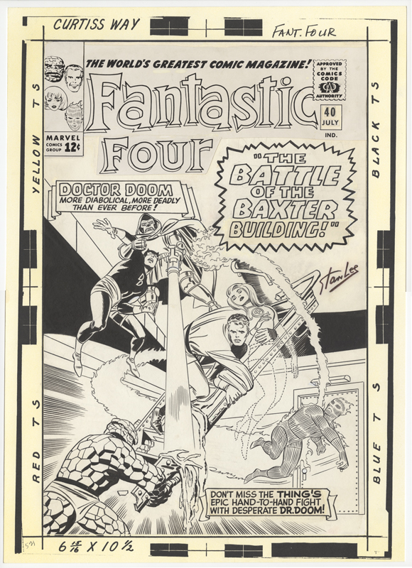 1965 - Fantastic Four 40 cover original art