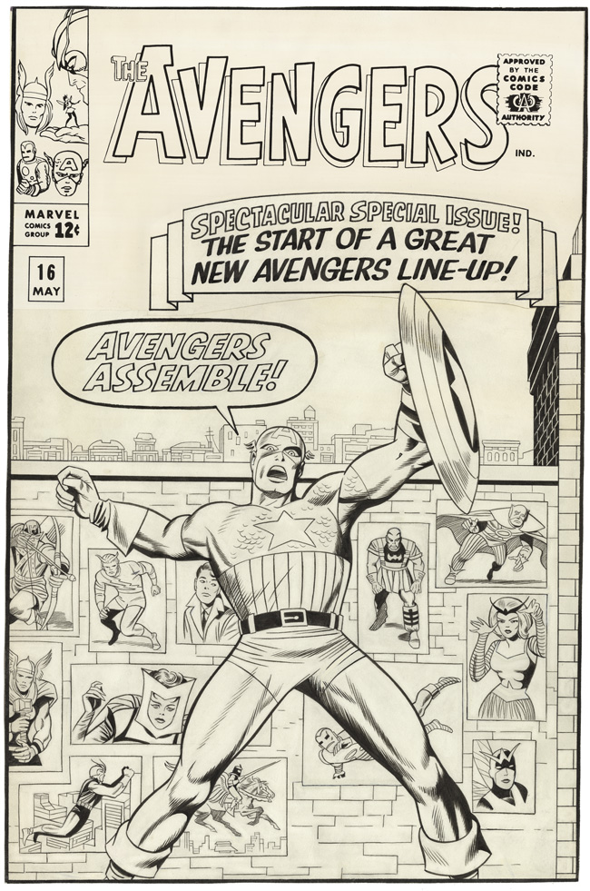 1965 - Avengers 16 cover original art