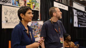 2011 - Lisa Rigoux-Hoppe and Richard Bensam at NYCC