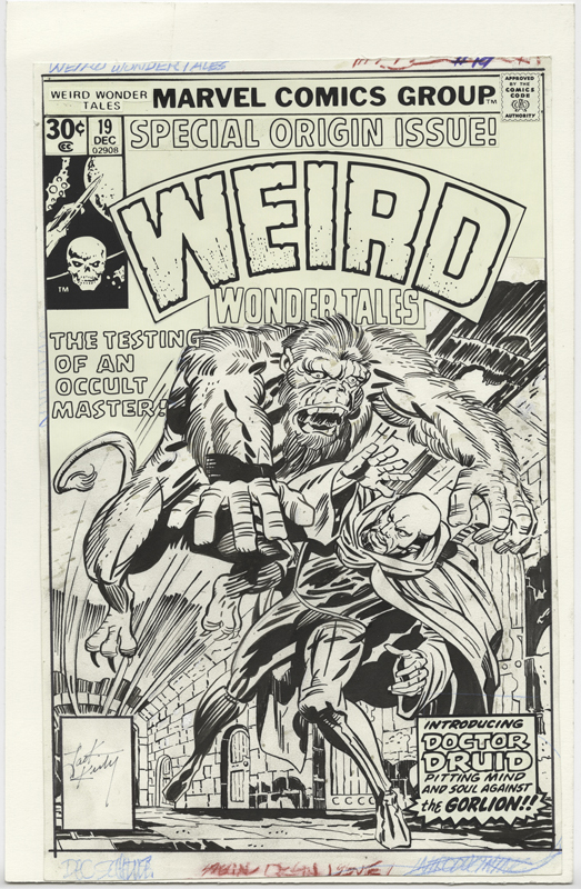 1976 - Weird Wonder Tales 19 cover original art